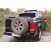 Бампер OJ задний серии Трофи на Volkswagen Amarok с калиткой под запаску