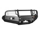 Бампер OJ передний серии Трофи на Toyota HILUX VII с кенгурином и доп.оборудованием