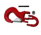 Крюк с вилочным сопряжением 10-8 красный
