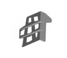 """Кронштейн переходной крепления кронштейна канистры 14.111.NN на калитку совместно с запаской до 33"""""""