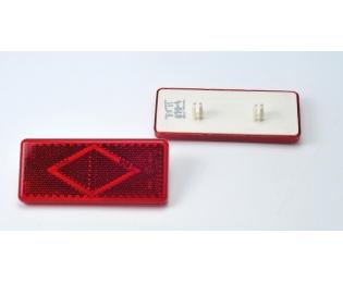 Световозвращатель красный с 2-мя защёлками (1 шт)