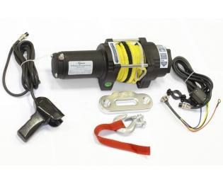 Лебедка электрическая для ATV СТОКРАТ QX 4.0 S 12V 1.6 л.с. с синтетическим тросом