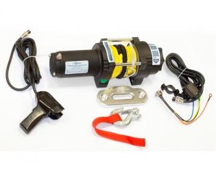 Лебедка электрическая для ATV СТОКРАТ QX 3.0 S 12V 1.5 л.с. с синтетическим тросом