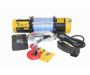 Лебедка электрическая T-MAX ATW-6000 Performance 12В с синтетическим тросом