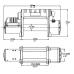 Лебедка автомобильная электрическая T-MAX PEWI-9500 Performance 12В с интегрированным управлением, радиоуправлением и синтетическим тросом