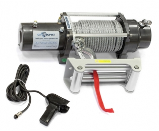 Лебедка электрическая автомобильная СТОКРАТ SD 12.5 SW24, 24В, 6.0 л.с.