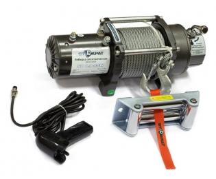Лебедка электрическая автомобильная СТОКРАТ SD 8.0 SSW (короткий барабан),12V, 5.5