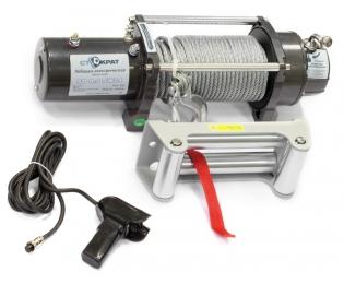 Лебедка электрическая автомобильная СТОКРАТ SD 9.5 SW24, 24В, 5 л.с.