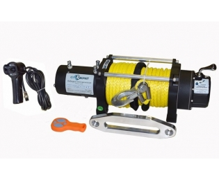 Лебедка электрическая автомобильная СТОКРАТ HD 12.5 WP, 12V, 6.8 л.с. с синтетическим тросом и радиопультом