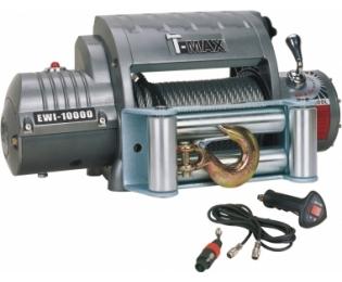 Лебедка автомобильная электрическая T-MAX EWI-10000 OUTBACK Integrated 12В с радиоуправлением