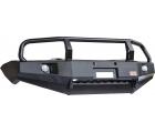 Бампер РИФ передний Mitsubishi L200 2014 с доп. фарами и кенгурином