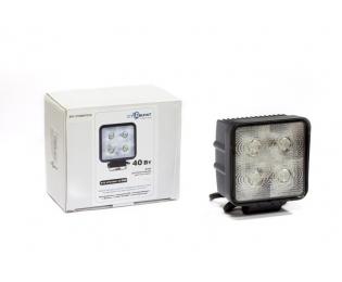 Фара дополнительная светодиодная квадратная рабочего света 40 Вт, 60 градусов