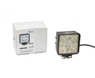 Фара дополнительная светодиодная квадратная направленного света 40 Вт, 25 градусов