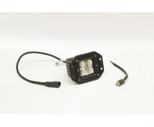 Фара дополнительная светодиодная прямоугольная врезная рабочего света 12 Вт, 45 градусов