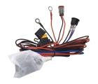 Комплект проводов с разъёмом, кнопкой, реле, предохранителем для фар 4 светодиода