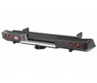 Бампер РИФ силовой задний Isuzu D-MAX с квадратом под фаркоп и фонарями, стандарт