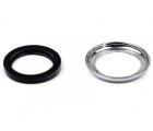 Запасной комплект из хромированной шайбы и резинового уплотнительного кольца для рукоятки включения свободного хода для лебедок СТОКРАТ SD и HD серий
