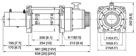 Габаритные размеры ComeUp DV 12 24V