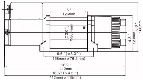 Габаритные размеры лебедки Runva ewt4500a