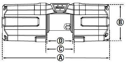 Габаритные размеры лебедки WARN AXON 45RC
